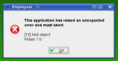 Error at program start